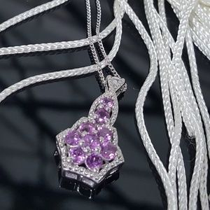 Jewelry - The World is a Flower with Purple Garnets